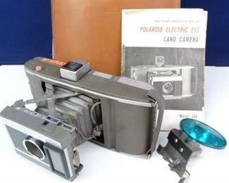 Vintage Polaroid Land Camera in Case