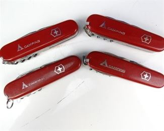 4 Victorianox Swiss Army Style Camp Knives