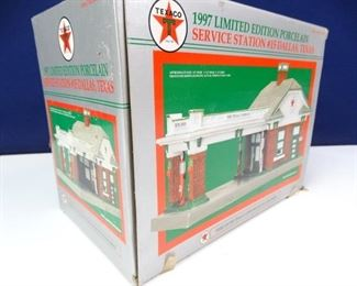 Limited Edition Porcelain Texaco Service Station