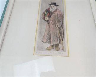 Original Etching of Scholar by John Le Quintana