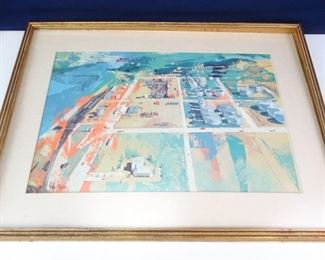 Large Gulf Oil Print in Frame by John Moodie
