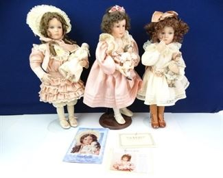 Tall Standing Vintage Porcelain Doll with Dolls
