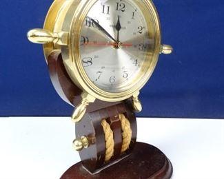 Howard Miller Brass Nautical Ships Wheel Clock