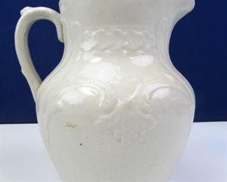 Vintage, Decorative Pottery Glazed Pitcher