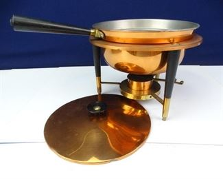 CopperColored Communal Fondue Melting Pot