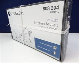 Glacier Bay, Chrome Kitchen Faucet with Side