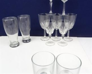 Miscellaneous Assortment of Glass Drink Ware