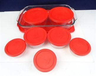 Pyrex Brand Glass Casserole Dish Storage
