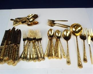 GoldPlated Dinner Utensil Collection