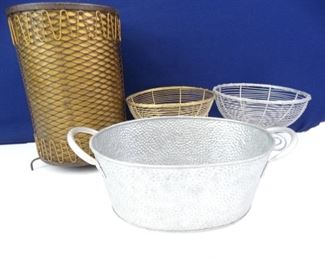 Assorted Metal BasketsContainers