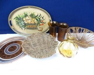 Assorted Vases, Bowls, Serving Platters Trays