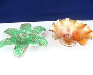 Vintage, Artistic, FloralInspired Glass Bowls