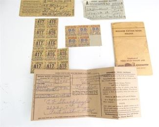 WWII Ration Book wCoupons