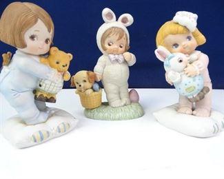 Vintage Dolly Dingle Series Easter Porcelain Dolls
