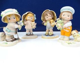 Vintage Dolly Dingle Series Porcelain Dolls Figures