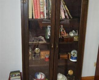 Cabinet, Books, & Home Decor