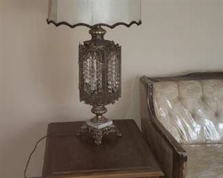 END TABLE, ORNATE LAMP