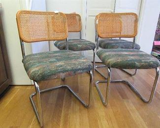 """Set 4 """"Breuer"""" design kitchen chairs"""