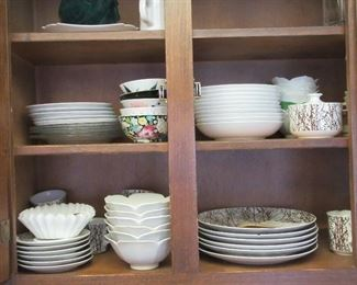 Lots of assorted dishware/serveware