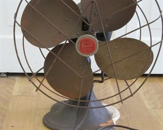 Vintage 2-speed oscillating fan.  A collectible!