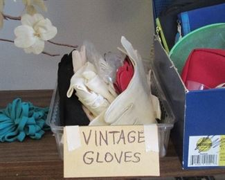 Vintage evening gloves for fun and dress-up
