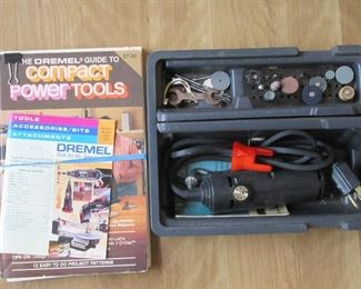 Dremel power tool and book