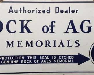 1930 Double Sided Porcelain Memorial Sign