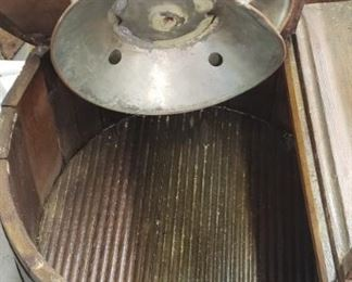 Inside of the Old Wooden Washing Machine