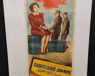 Early John Wayne Poster - 1946 Without Reservations