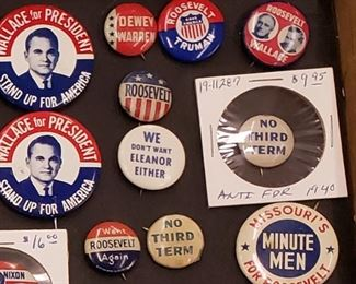 FDR Campaign Buttons