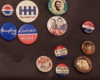 Vintage Campaign Buttons