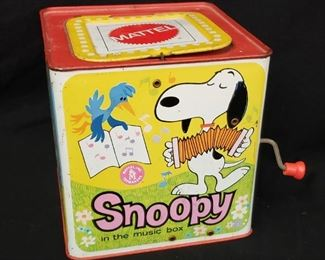 1950s Snoopy In The Music Box