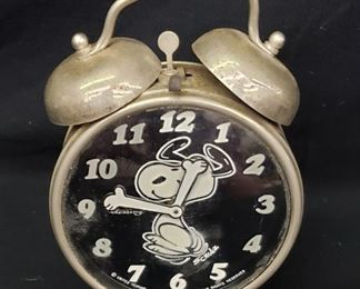 1970s West German Snoopy Alarm Clock
