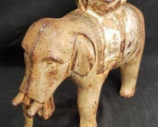 Old Cast Iron Elephant Bank