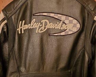 HD Black Leather Jacket Back