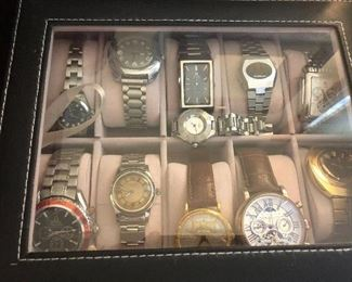 enormous watch collection