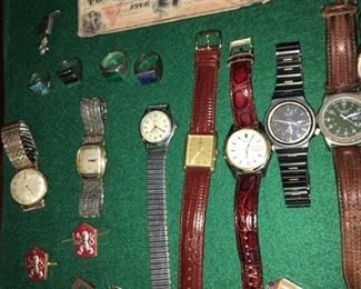 various watches and rings