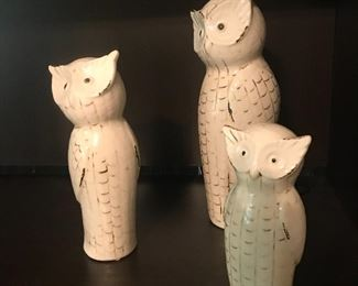 Pottery/ceramic owls