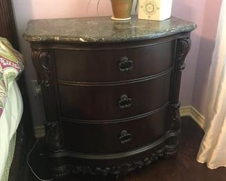 Beautiful marble top nightstand