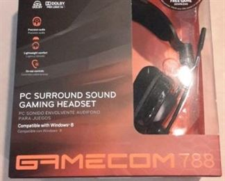 Plantronics Gamecom 788 PC Surround Sound gaming headset, new in box.