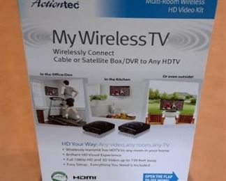 Actiontec multi-room wireless HD video kit, in box.