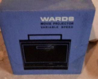 Vintage Wards movie projector, in box.