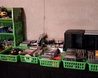 Music CD's, CD holders, cords, etc!