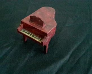 Vintage dollhouse piano.