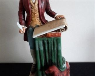American Porcelain McCormick Distilling Company Decanters.  Thomas Jefferson, with styrofoam box.