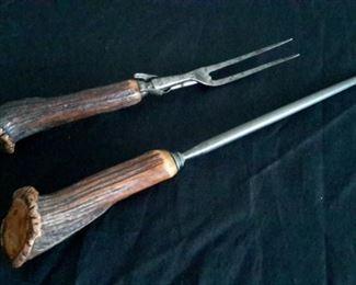Deer horn utensils.