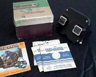 Vintage View-Master Stereoscope, in box with 3 reels.