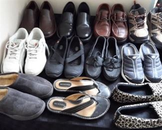 Men's and women's shoes, some brand new, never worn.