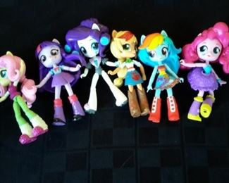Equestria dolls from My Little Pony.