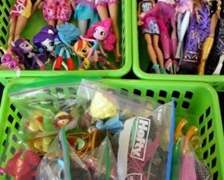Monster High Dolls, Barbie and Equestria Girls dolls, plus accessories.